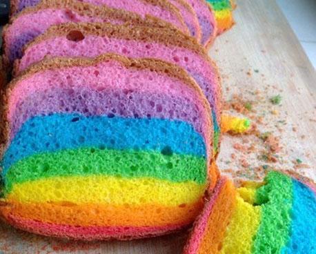 彩虹面包制作配方及流程
